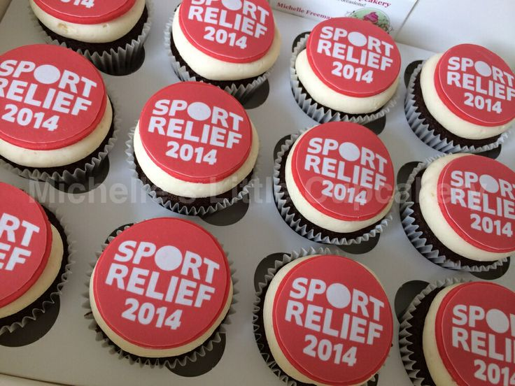Sports Relief cupcakes