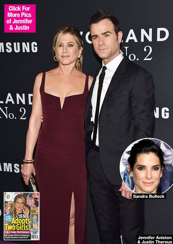 Finally, after years of trying, Jennifer Aniston is about to become a mommy! She and hubby Justin Theroux are adopting two young girls, according to a new report, and they couldn't have done it without the help of Sandra Bullock!