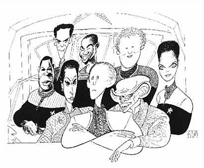 Al Hirschfeld-Star Trek: DS9