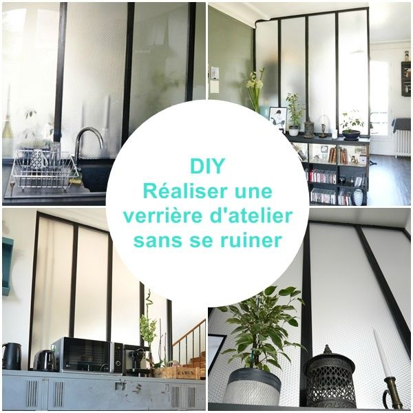 diy r aliser une verri re d 39 atelier style industriel diy pinterest salons decoration and. Black Bedroom Furniture Sets. Home Design Ideas