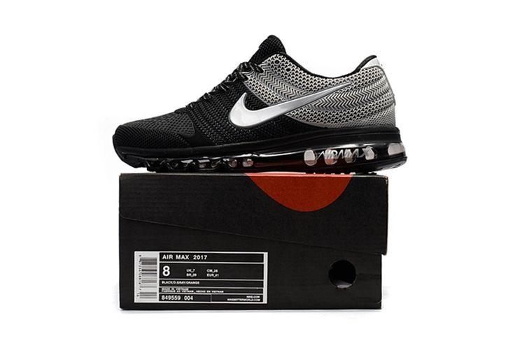 Nike Air Max 2017 Top Running Shoes Mens Black Gray White https://twitter.com/gmsingin1/status/915364876633042945