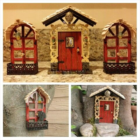 12 best images about popsicle sticks on pinterest castle for Diy fairy house door