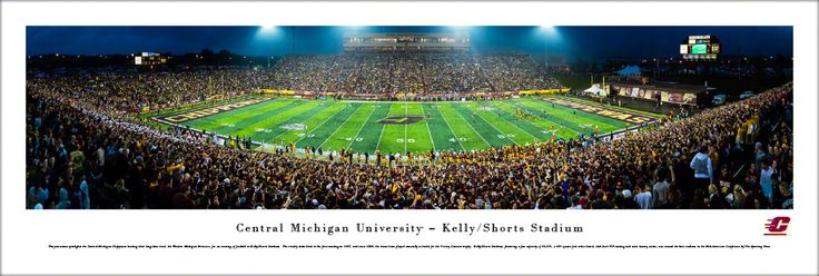 Central Michigan University Chippewas Football Panoramic Picture - Kelly/Shorts Stadium - Unframed $29.95