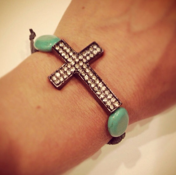 Cross macrame bracelet by AroundMyWrist on Etsy, 11.95