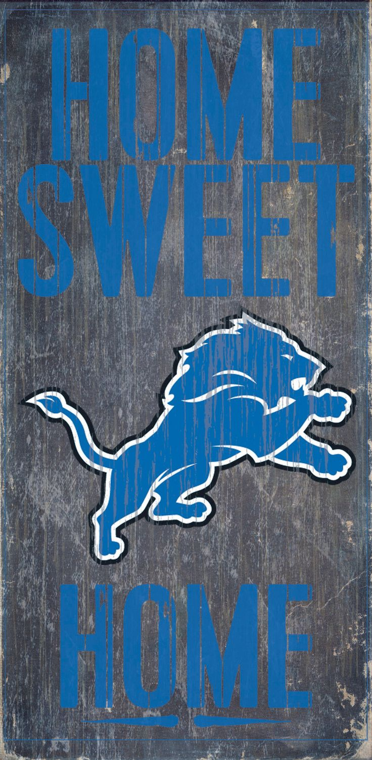 Detroit Lions Wood Sign - Home Sweet Home 6x12