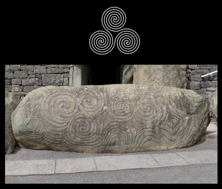Triskelion (do grego τρισκέλιον) tem para os Iniciados Celtas o mesmo simbolismo da Suástica para os Iniciados Hindus.