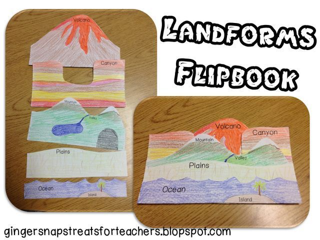 Landform Flipbook FREEBIE - What a great, hands-on way to learn about social studies landforms!