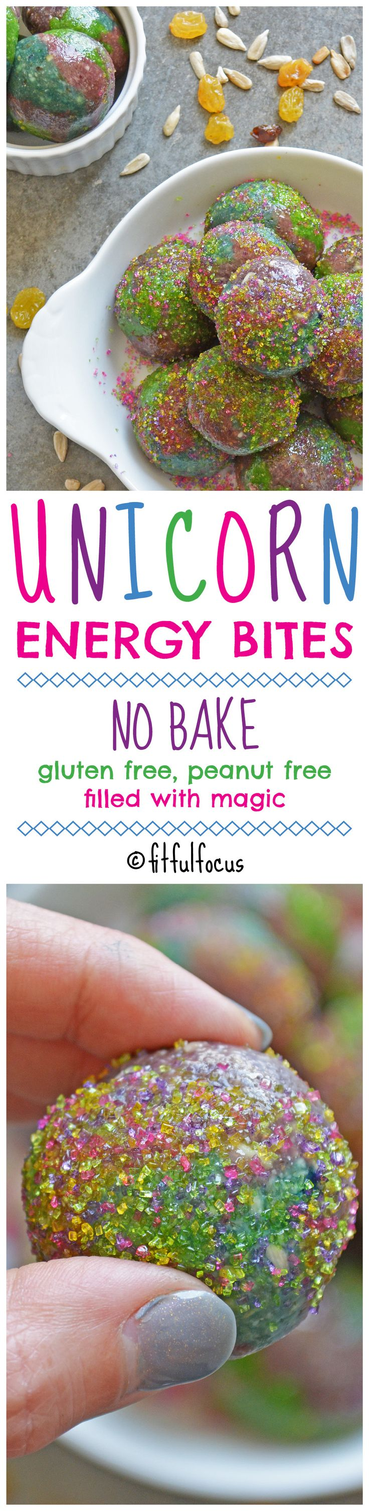 Unicorn Energy Bites | No-Bake Desserts | Healthy Snacks | Meatless Monday | Unicorn Recipes | Rainbow Desserts | Healthy Snacks for Kids | Energy Balls