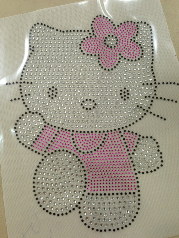 rhinestone template material wholesale - rhinestone transfer hello kitty rhinestone iron on hot fix