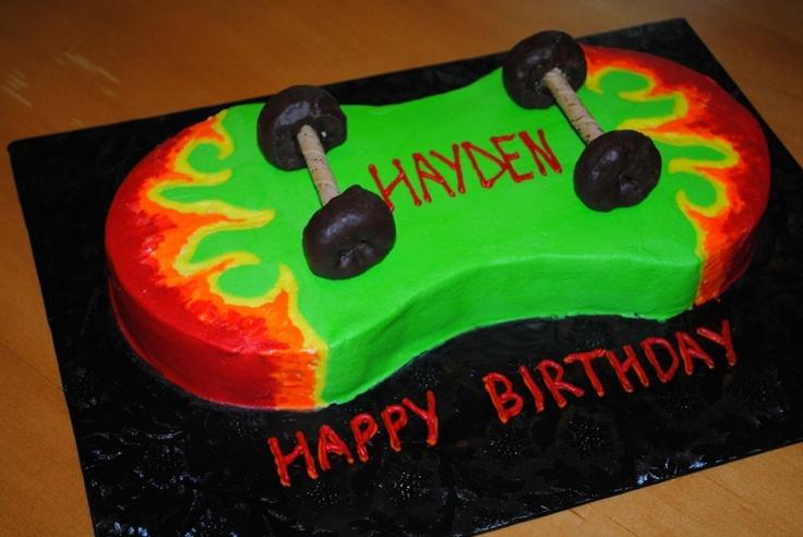 Cake Decorating Skateboard