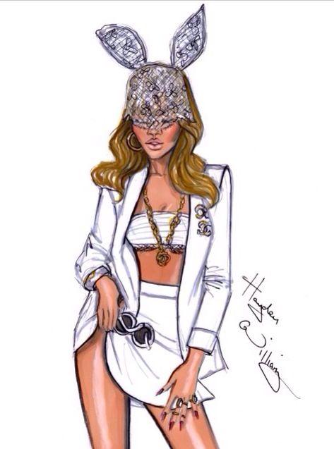 Rihanna drawing by Hayden Williams