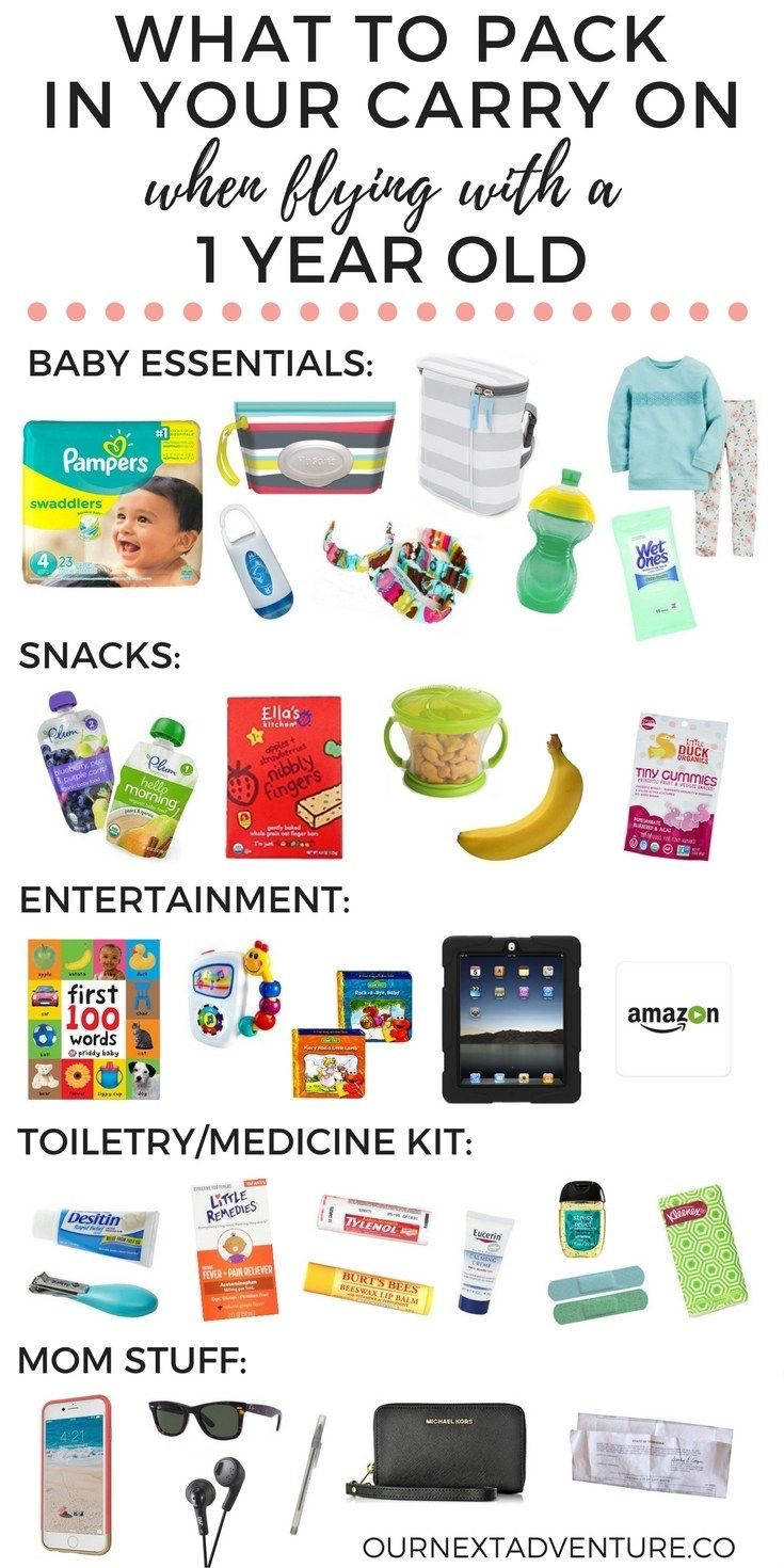 What to pack in your carry on when your baby's not quite a baby anymore, but not quite yet a toddler. // Carry On Packing   Family Travel   Travel with Kids   Flying with 1 Year Old
