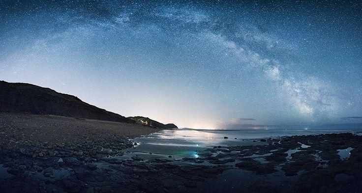 The Milky Way over Golden Cap