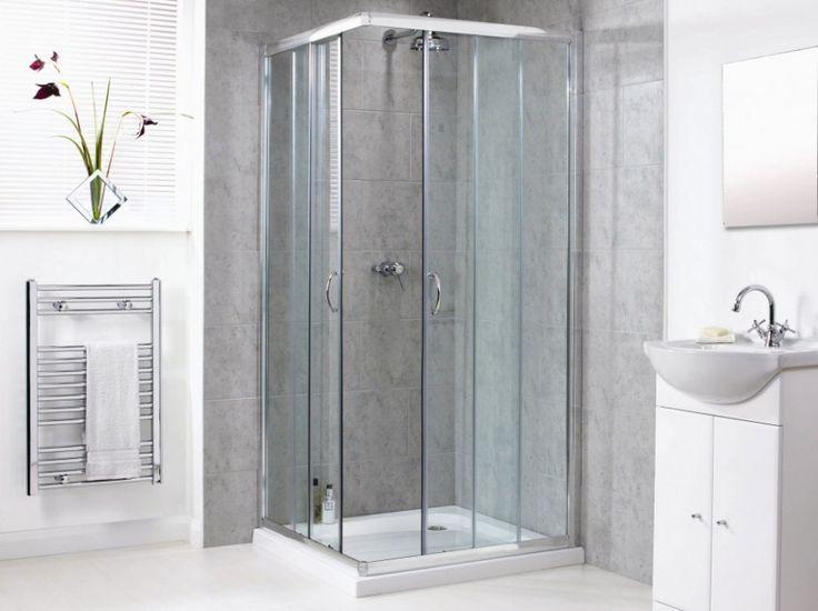 bathroom square frameless corner glass shower doors and modern vanity sink unit bathroom design