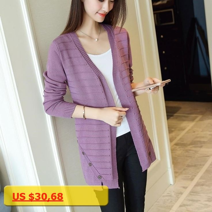 Girls knit cardigan long summer coat 2017 V collar loose new long sleeved shirt conditioning sunscreen shirt