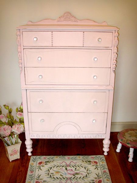 Ornate Pink Chest Of Drawers Pink Dresser Dresser Painted Furniture