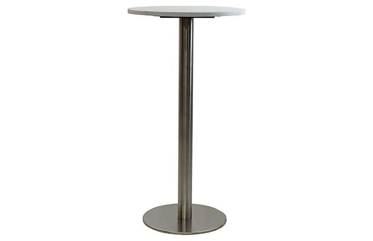 Oasis I Round Bar Table - Gray/Ivory - JANUS et Cie