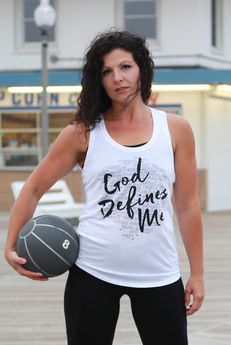 God Defines Me Racerback - Cross Training Couture