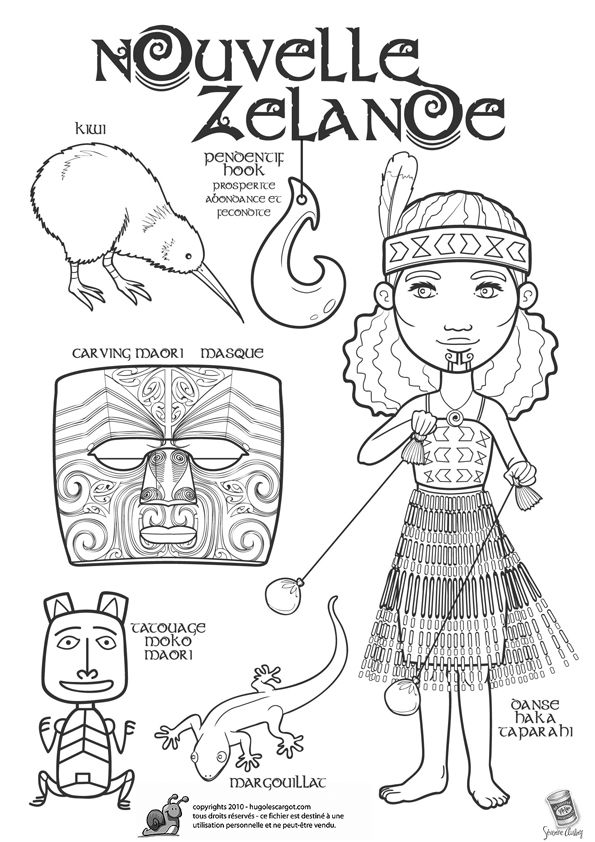 Around the world colouring in (New Zealand)