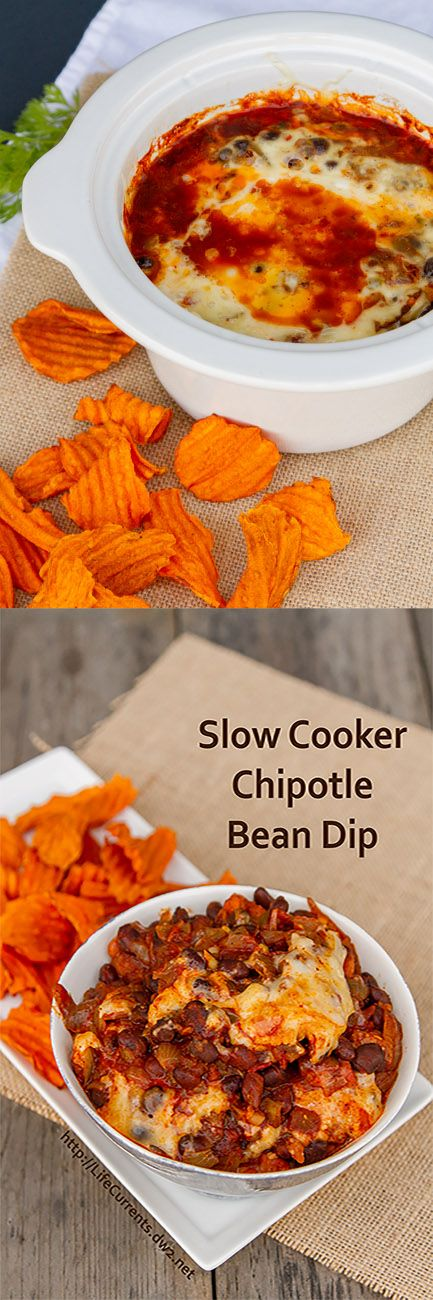 Slow Cooker Chipotle Bean Dip for Tailgating Snacks Month on Life Currents