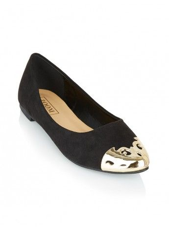 Pointy pumps with gold detail Black 74