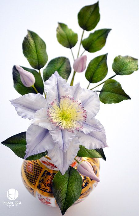 Clematis - by Hilary Rose Cupcakes @ CakesDecor.com - cake decorating website