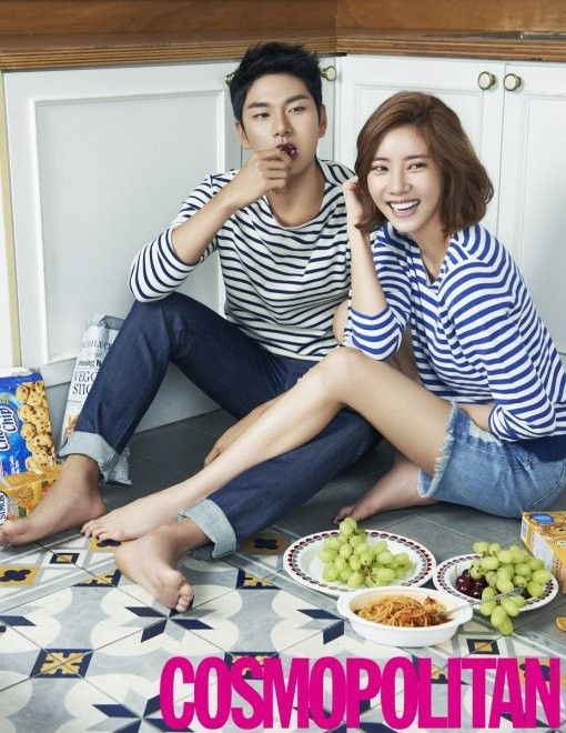 Son Dam Bi and Lee Yi Kyung make a cute couple for 'Cosmopolitan'   allkpop.com