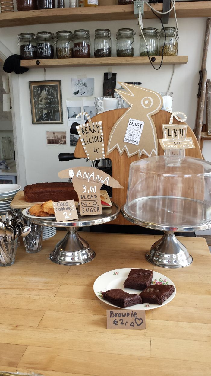 Berry, un charmant petit Coffee Shop dans Oud-West #Amsterdam #CoffeeShop #Cakes