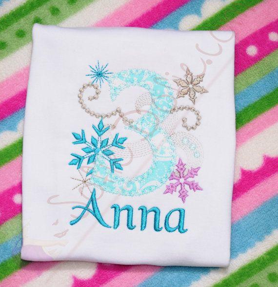 Frozen Birthday Shirt Princess Birthday Shirt Elsa by SofieDofie