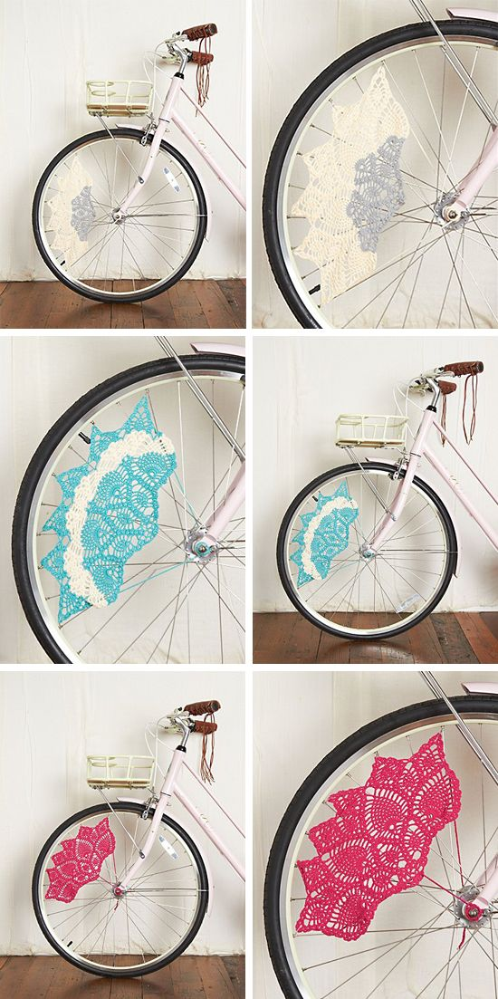 Fácil y Sencillo: Bicicletas con detalle de ganchillo