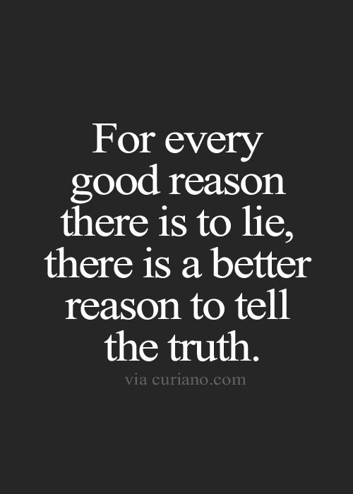 I tell the truth and I still get hurt...