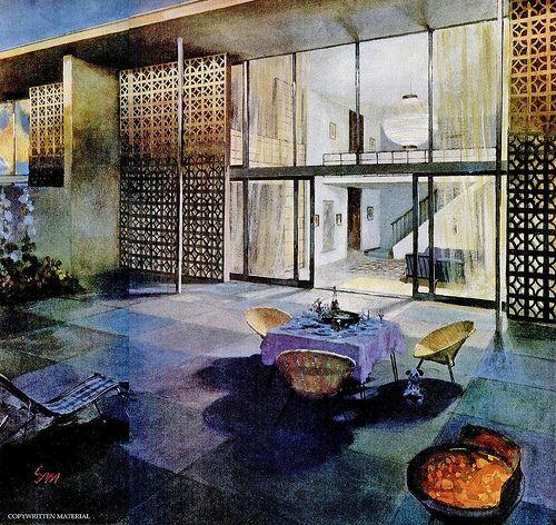 Mid Century Modern Exterior Design: 150 Best Mid Century Decorative Concrete Images On