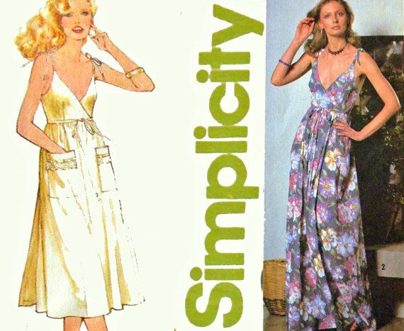 Vintage 70s Dress Pattern / Simplicity 9036 by ScarlettsVault