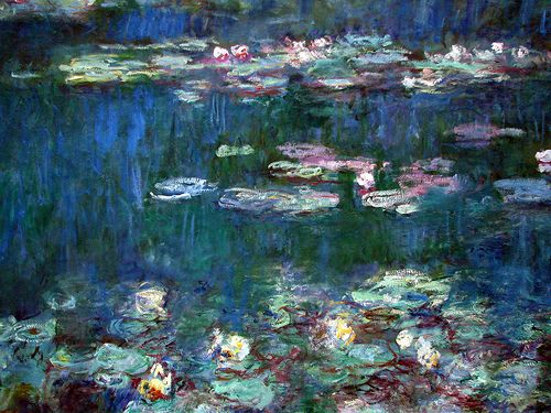 Water Lilies is a series of approximately 250 oil paintings by French Impressionist Claude Monet.