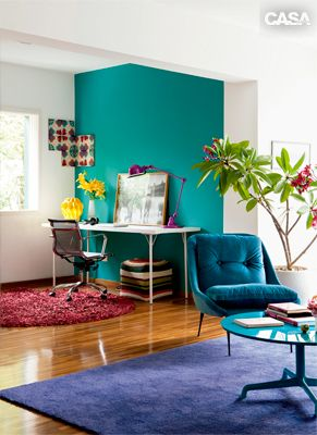 Turquoise, Purple and Blue Room