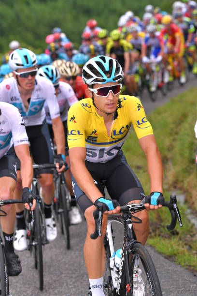 ef45b1c02 Michal Kwiatkowski of Poland and Team Sky Yellow Leader Jersey   during the 70th  Criterium du