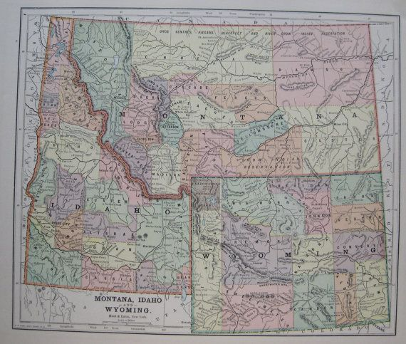 Best Wyoming Map Ideas On Pinterest Yellowstone Map West - Map of montana and wyoming