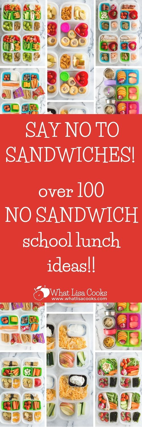 Tired of packing just sandwiches for school lunch? Check this out! Dozens of easy non-sandwich school lunch ideas from WhatLisaCooks.com #ad
