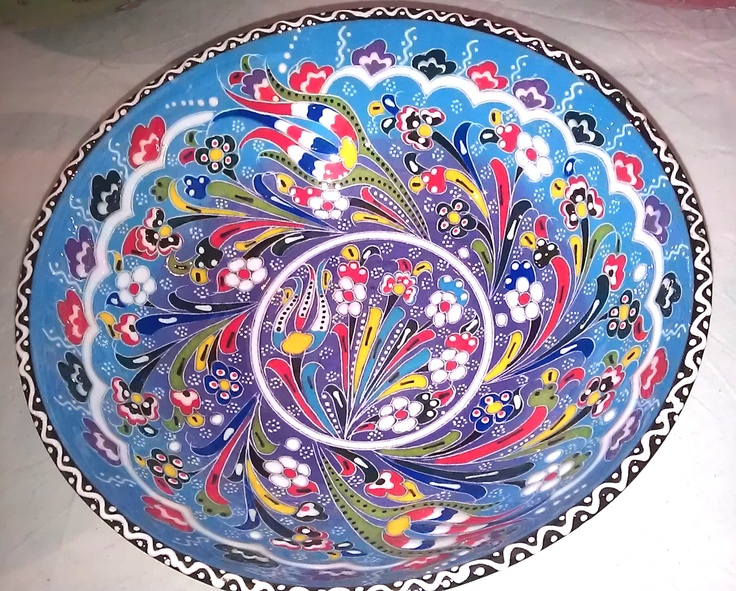 Hand decorated bowls from Jerusalem by Pama Forza. £30