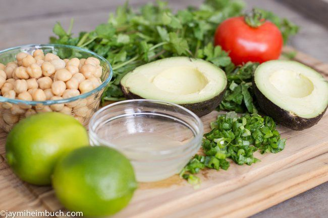 Ingredients for Avocado and Chickpea Salad Sandwiches