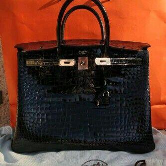 B40 Black Porosus Shiny phw #Q  VERY RARE and Pretty Black!! (For Order Whatsupp +62857-82-056-056)