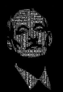 Bill Murray Printable word art | Self Print It