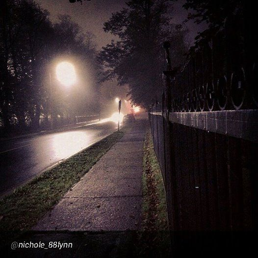 Dark & foggy night is equally as beautiful as any sunny day when captured by a talented photographer http://www.MervEdinger.com #Halifax