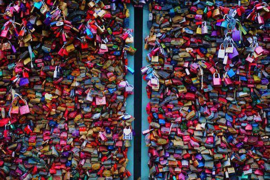 Love padlocks on Hohenzollern Bridge