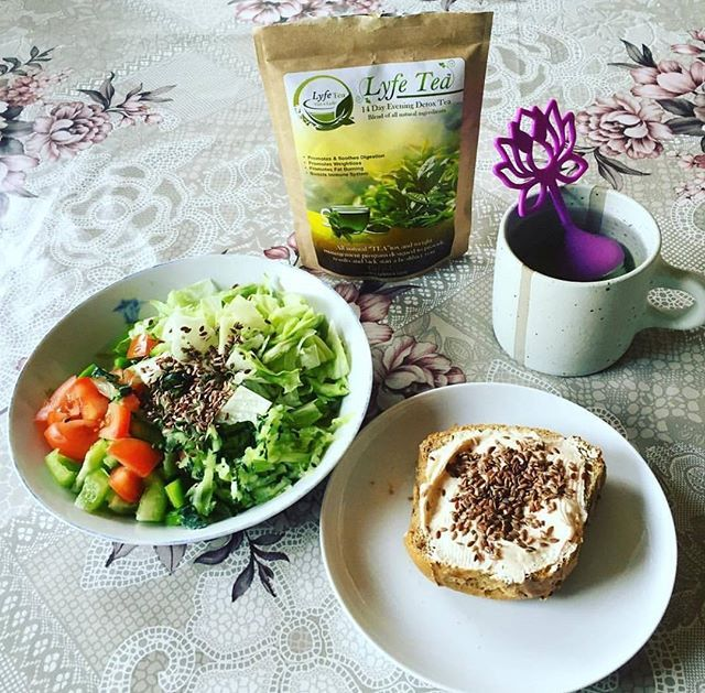 """""""Lyfe Tea is the best tea that I have tried, the taste is great and it really works. I really enjoy a nice warm cup late evening and I rest well. I wake up full of energy."""" - Topatha B (Website Review)  #lyfetea #lovelife #beautiful #flatlay #detox #teatox #positive #realreviews"""