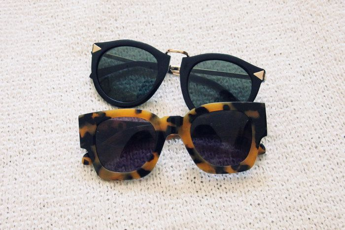 Tengo una pequeña obsesión por las gafas de sol. Pero pequeña, eh.