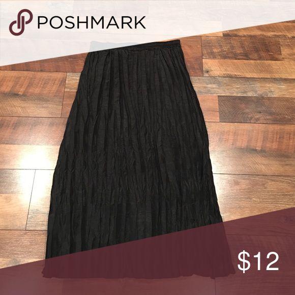 Black crinkled long dressy skirt Long black dressy skirt Skirts Maxi