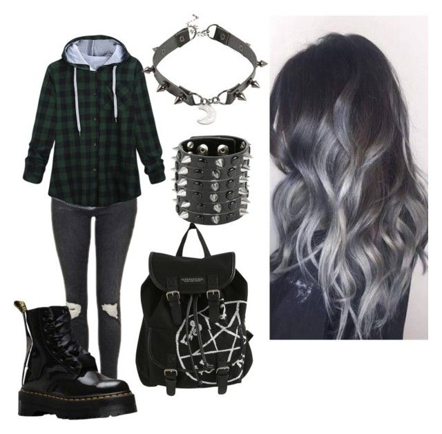 """Untitled #5"" by karmaakbane on Polyvore featuring Topshop and Dr. Martens"