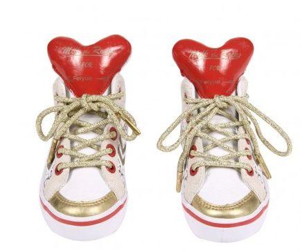 Des chaussures coeurs pour votre bébé