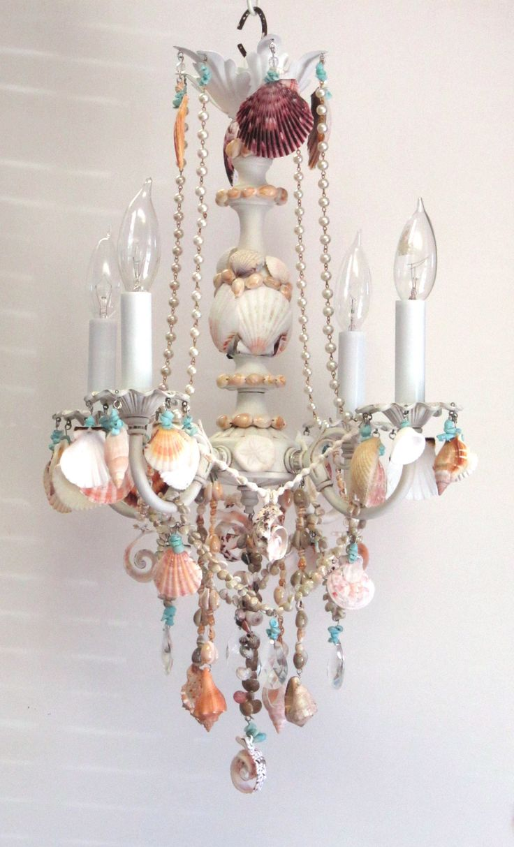 58 best sea shell chandeliers and more images on pinterest crystal and shell chandelier shell chandelierchandeliersbeach lightingshell arubaitofo Gallery